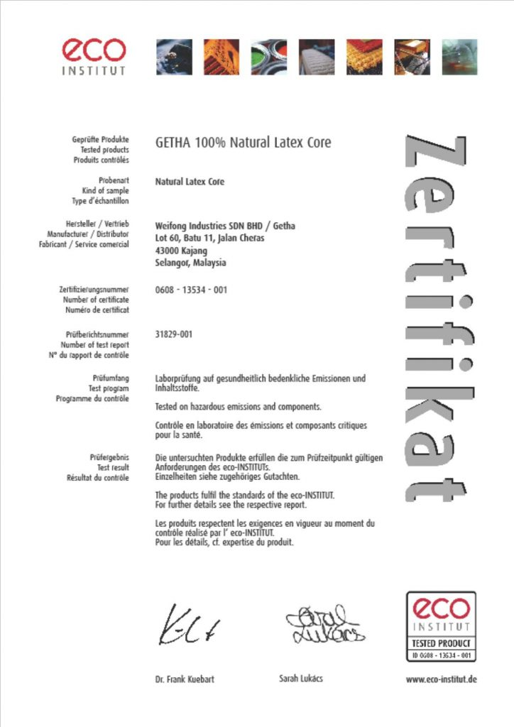 Cert - Getha Eco Test
